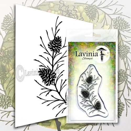 Fir Cone Branch - Lavinia Stamps (LAV580)