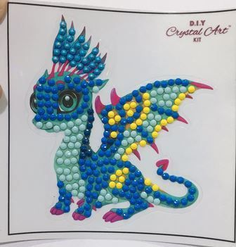 Friendly Dragon 9x9cm Crystal Art sticker