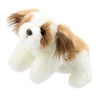 Full Animal Puppet Brown and White Dog
