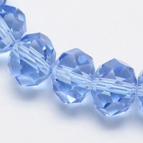 Glass Rondelle 6x4mm Cornflower Blue (19)