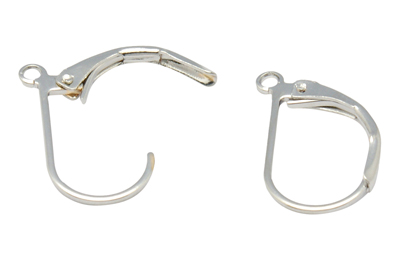 Lever Back Hoop Earrings - Silver (5 pairs)