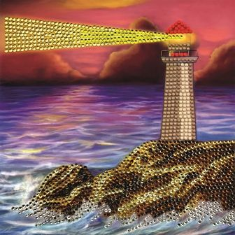 Lighthouse Crystal Art Card Kit