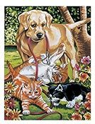 Paint By Numbers -  Dogs and Kittens