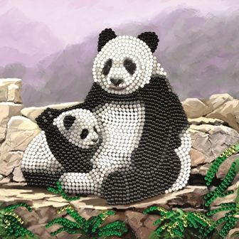 Panda Crystal Art Card Kit