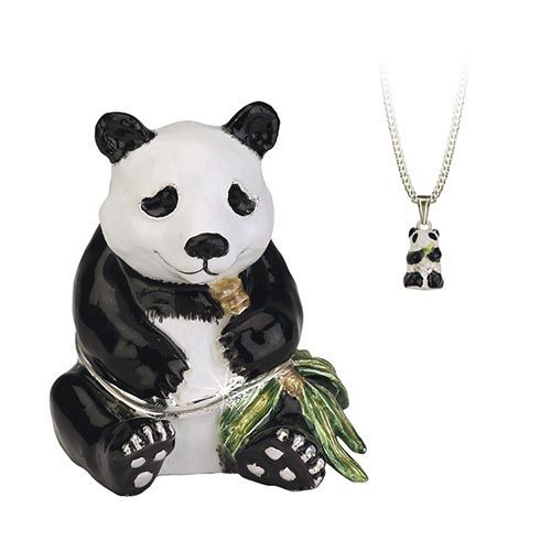 Panda Trinket Box and Necklace