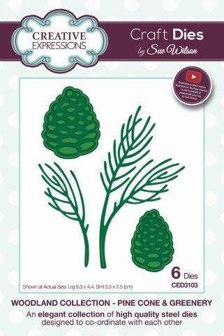 Pine Cone & Greenery Creative Expressions Die (CED3103)