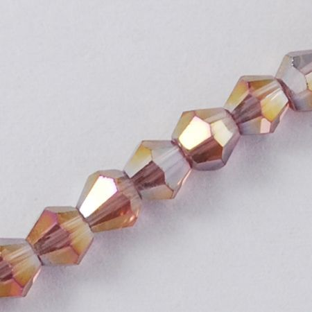 Plum 4mm Faceted Glass Bicone