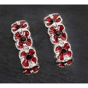 Poppy Half Moon Earrings