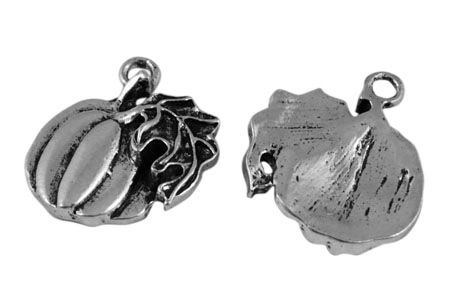 Pumpkin Charms Antique Silver (pack of 5 charms)