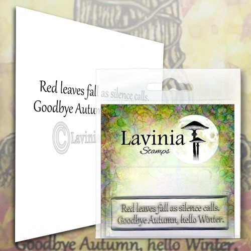 Red Leaves - Lavinia Stamps (LAV574)