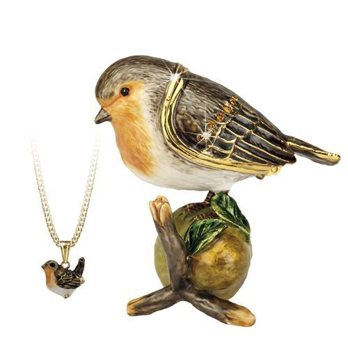 Robin Trinket Box and Necklace