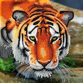 Tiger Crystal Art Card Kit