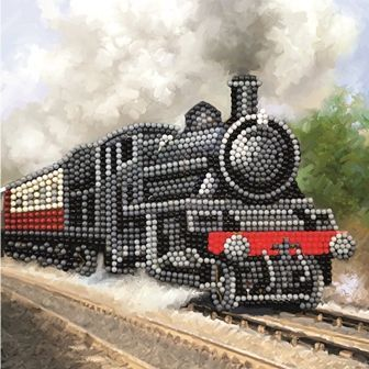 Train Crystal Art Card Kit
