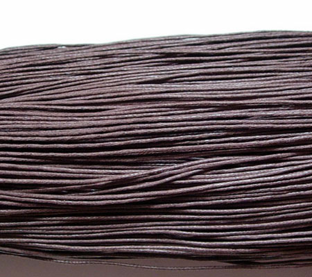 Wax Cotton 0.7mm - Coffee (one metre)