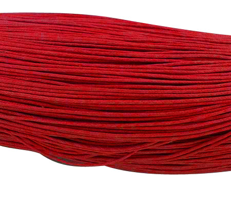 Wax Cotton 0.7mm - Red (one metre)