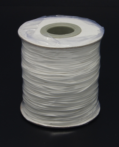 Waxed Polyester Cord 0.5mm - White (one metre)