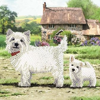 Westie Crystal Art Card Kit