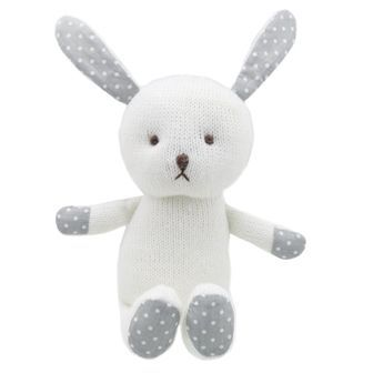 White Rabbit Knitted Wilberry Toy