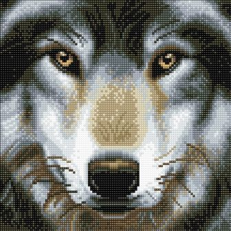 Wolf 30x30cm Crystal Art Kit