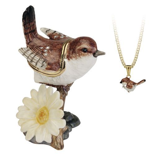 Wren Trinket Box and Necklace