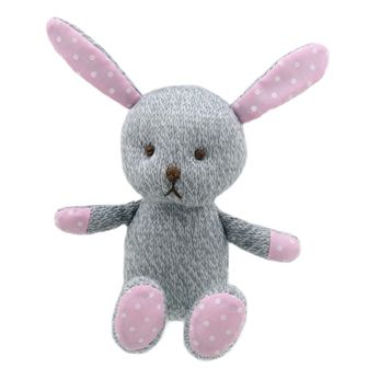 Grey Rabbit Knitted Wilberry Toy